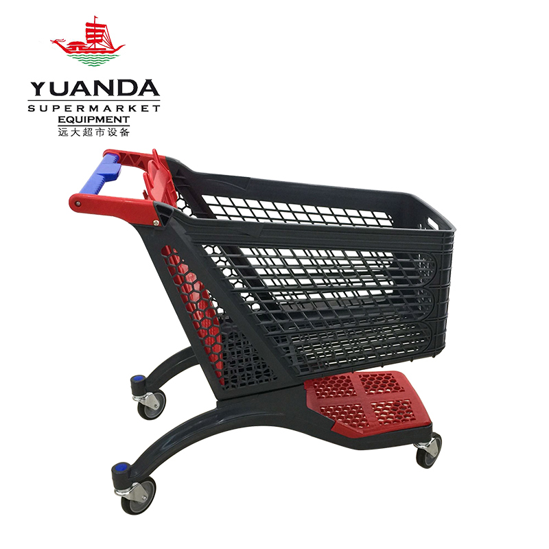 200L plastic shopping trolley